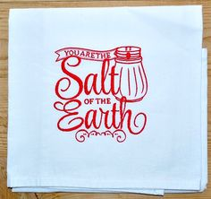 This embroidered dish towel (flour sack towel) can be stitched in any color you choose!  Available at https://www.jessiemae.etsy.com