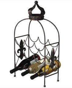 Elegant Rustic 9-Bottle Wine Holder/ Rack