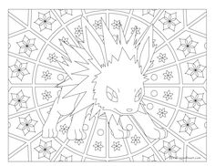 adult pokemon coloring page jolteon