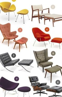 Mid Century Modern Design, Mid Century Modern Furniture, Poltrona Design, Mid-century Modern, Home Furniture, Furniture Design, Living Room Chairs, Lounge Chairs, Lounge Seating