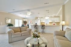 Remodeled Manufactured Home for sale in Florida - interior.  So pretty and peaceful.