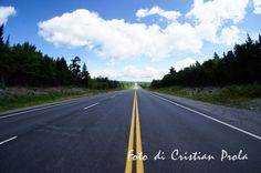 Road to Nova Scotia, New Brunswick (Canada)