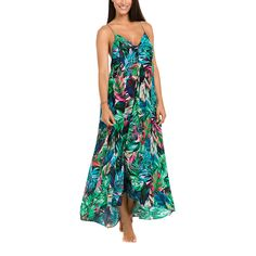 Isola | Wild Side Paneled Maxi Dress | Emerald by ISOLA on Brands Exclusive