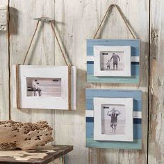 Mud Pie has unique distressed frames for a gallery wall or picture frame wall. Mix and match big and small frames to make a composed gallery wall! Hanging Frames, Frames On Wall, Distressed Frames, Nautical Home, Hanging Pictures, Mud Pie, Beach House Decor, Beach Themes, Coastal Decor