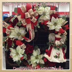 """""""Home for the Holidays"""" 36in Wreath 2013 Collection designed by Christian Rebollo for store 2870"""