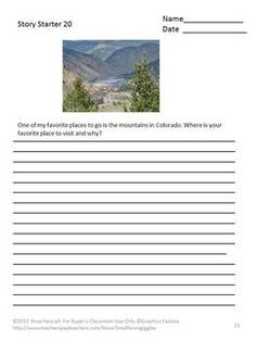 Printables Science Starters Worksheet creative writing original nature photography literacy centers interesting stories old houses and prompts
