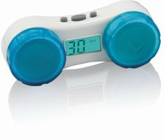 contact lenses case | Electronic Contact Lens Case With 14/30 Day Alarm