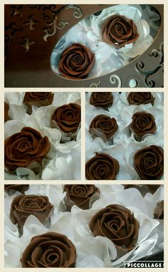 Rosas trufadas  Feitas à mão