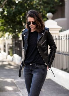 Leather Jacket Outfits, Faux Leather Jackets, Biker Outfits, Moto Leather Jacket, Biker Jacket Outfit Women, Black Jacket Outfit, Moto Jacket, Biker Chick Outfit, Biker Chick Style