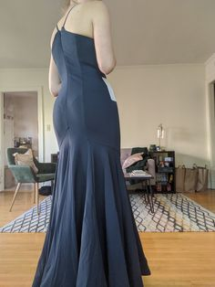 """I ordered a custom size, and it fits super well!! I'm 5""""10, 135lb, and usually a B cup. The dress is a little big in the chest, but a stick on bra will solve the issue! I love the way it flatters my shape, and flares out at the bottom! The material feels nice and has some stretch, so I don't have to be worried about straining the seams when I sit, or having issues when I move. Overall great purchase, especially for the price!"""