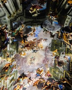 #baroque #barocco #roma #rome #italy #italie #italia #europe #europa #chuch #eglise #iglesia #art #painting #artsy #prespective #travel…
