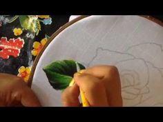 Pintura en tela servilleta deshilada # 2 con cony - YouTube