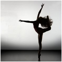 Incredible Beautiful Silhouette of Ballet Dancers ❤ liked on Polyvore