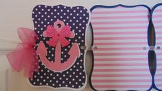 Nautical pink and navy 12 month photo banner by ASweetCelebration