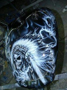 Motos Harley Davidson, Harley Davidson Images, Custom Motorcycle Paint Jobs, Custom Paint Jobs, Custom Tanks, Motorcycle Tank, Custom Airbrushing, Air Brush Painting, Airbrush Art