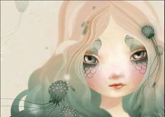 :)so pretty of a face.Adolie Day- you paint pretty mermaids etc. check her other stuff out! Kunstjournal Inspiration, Art Journal Inspiration, Pretty Mermaids, Art Gallery, Design Textile, Art Folder, Art Et Illustration, Heart Art, Oeuvre D'art