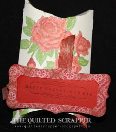 "Close to My Heart January Stamp of the Month ""Valentine's Day"". Using the Cricut Art Philosophy Cartridge and Pears & Partridge paper pack."