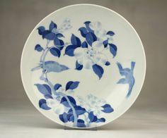 Large Antique Japanese Arita Blue & White Nabeshima Porcelain Bowl Or Dish   eBay