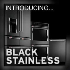 LG LIMITLESS DESIGN... #LG Black Stainless Steel appliances  I want!!! #LGLimitlessDesign#Contest