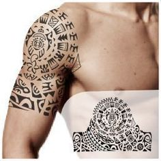 maori tattoos back Half Sleeve Tattoos Color, Easy Half Sleeve Tattoos, Half Sleeve Tattoo Template, Half Sleeve Tattoos Drawings, Full Sleeve Tattoo Design, Half Sleeve Tattoos Designs, Tribal Tattoos, Henna Tattoos, Tattoo Designer Online