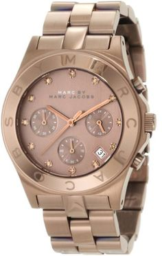 Marc by Marc Jacobs Brown Dial SS Chronograph Quartz Ladies Watch MBM3121 ** You can get more details by clicking on the image. (This is an affiliate link)
