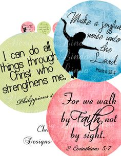 CHRISTian Scripture 1 (1 Inch Round) Bottle Cap Images Digital Collage Sheet Buy -2 Get 1 Sale printable stickers magnet button Bible via Etsy