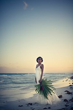 The White Dress by the Shore Playa del Carmen, Mexico Destination Wedding inspiration | Photography by Carla Ten Eyck