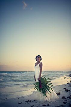 The White Dress by the Shore Playa del Carmen, Mexico Destination Wedding inspiration   Photography by Carla Ten Eyck