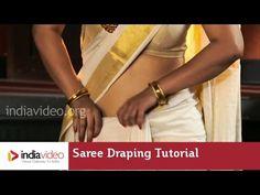 Tutorial - How to Wear A Kerala Saree? - YouTube