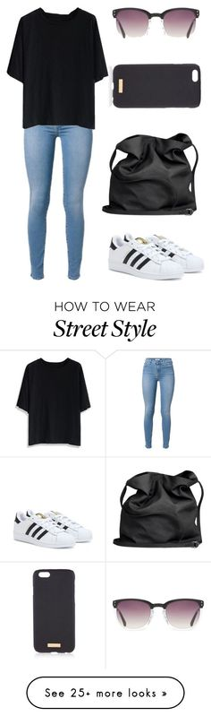 """""""Street style No.2"""" by allison-grace02 on Polyvore featuring Chicwish, Linda Farrow, adidas, Ann Demeulemeester and Henri Bendel"""