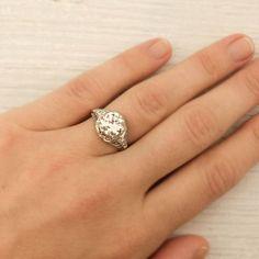 Image of 1.75 Carat Old European Cut Diamond Engagement Ring