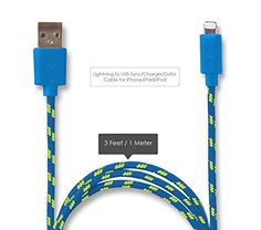 Lightning to USB Cable - Data Sync Charger Cord - 3ft Blue Round Braided Stylish Wire - Durable - No Snap or Wiggle - For Apple Devices: iPhone 6, 6 Plus, 5, iPad, iPod. Swiss-QA http://www.amazon.com/dp/B00S4FX2XK/ref=cm_sw_r_pi_dp_i5BYvb0PXWX3P