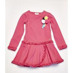 fc4d25257326 Ariana Dee Hot Pink Jersey PomPom Ruffle Dress W152715 £52.99