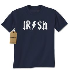 Irish Rockstar Band Logo St. Patrick's Day Mens T-shirt