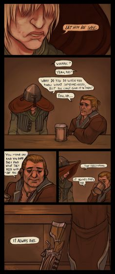 "Dragon Age Inquisition, Varric and Cole ""But it's just part of being a person"" THE FEELS"