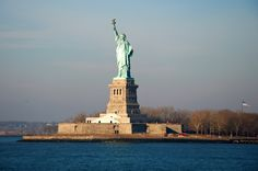 The Statue of Liberty. New York. We anchored our boat behind Lady Liberty in 2004 while travelling The Great Loop. Photo by Andy New.