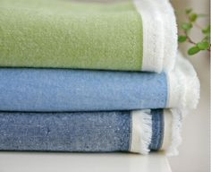 Pre-washed Cotton Fabric Solid - Olive, Blue or Navy - By the Yard 9047 on Etsy, $11.75