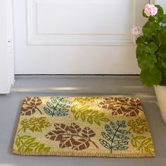 Pressed Leaves Coir Doormat | The Company Store