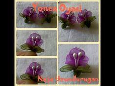 Organze Kurdele oyaları&YAPRAK YAPRAK GÜL OYASI &Forex flower,health flower,summer flower, - YouTube