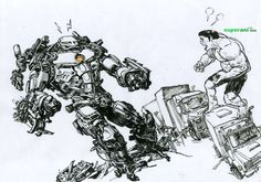 Kim Jung Gi Sketch Collection, News, and More! Art Sketches, Art Drawings, Drawing Art, Junggi Kim, Kim Jung, Creative Inspiration, Hulk, Comic Art, Illustrators