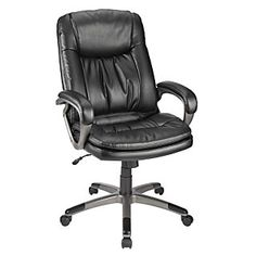 realspace breckland high back executive chair black item 494128