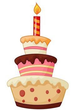 "Photo from album ""Торты, пирожное"" on Yandex. Birthday Cake Clip Art, Birthday Clipart, Birthday Greeting Cards, Birthday Greetings, Happy Birthday, Birthday Snacks, Birthday Cookies, Crafts To Make, Crafts For Kids"