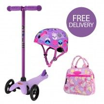 Mini Micro Candy Lilac Scooter Bundle