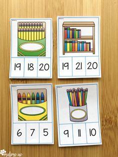 Klypekort til begynneropplæringen i matematikk. Addisjon, subtraksjon og arbeid med mengder i tallområdet 1-20. Fasit på baksiden for selvrettende aktivitet!