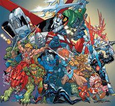 Ms. Pac Man, TMNT, He-man, Smurfs, GI Joe, Transformers, Voltron, Thundercats, Care Bears, G-Force, Rubik's Cube, Strawberry Shortcake,  Robotech.