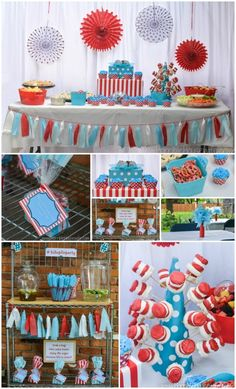 Thing 1 and Thing 2 Party   http://horriblehousewife.com/2014/09/thing-1-and-thing-2-party/