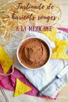 Tartinade de haricots rouges a la mexicaine Tartin+ Delicious Vegan Recipes, Vegetarian Recipes, Fingers Food, Salty Foods, Taco Dip, Vegan Appetizers, Red Beans, Vegan Breakfast, Food Inspiration