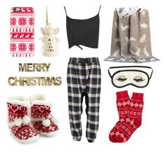 """""""Christmas Advent: Day 19"""" by madeleine-icon ❤ liked on Polyvore featuring One Teaspoon, Boohoo, Brooks Brothers, Casetify, Lounge & Sleep, Shea's Wildflower, Lenox and H&M"""