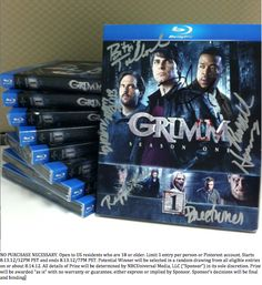 GIVEAWAY TIME! Enter to win a SIGNED copy of #Grimm Season 1 on Blu-ray when you RE-PIN this pin from @Grimm NBC with hashtag #GrimmReturnsAug13!