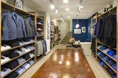Square Design Interiors designed the newest Guy Laroche men's apparel store in Nea Smyrni, Athens.